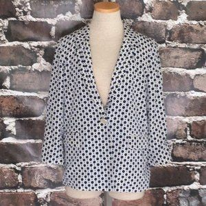 Anthropologie Blazer Spring Suit Jacket Blue Small